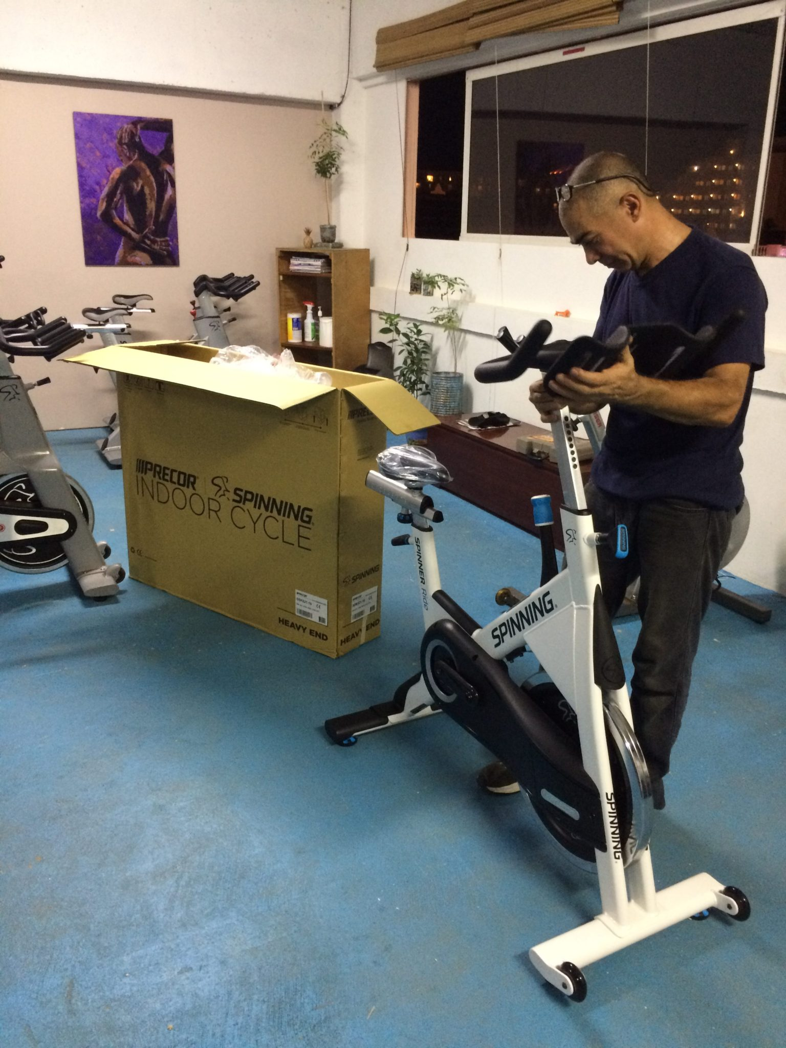 F. L. Y. Studio Fitness Lifestyle Yoga is the first Aruba Study to have to Spinner Precor